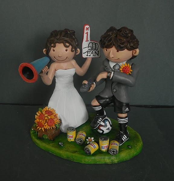 sposini per torta nuziale sposa tifosa sposo telecomando sky orme magiche
