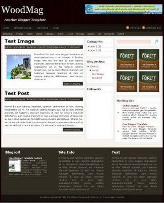WoodMag - 16 Of The Best Free Blogger Templates