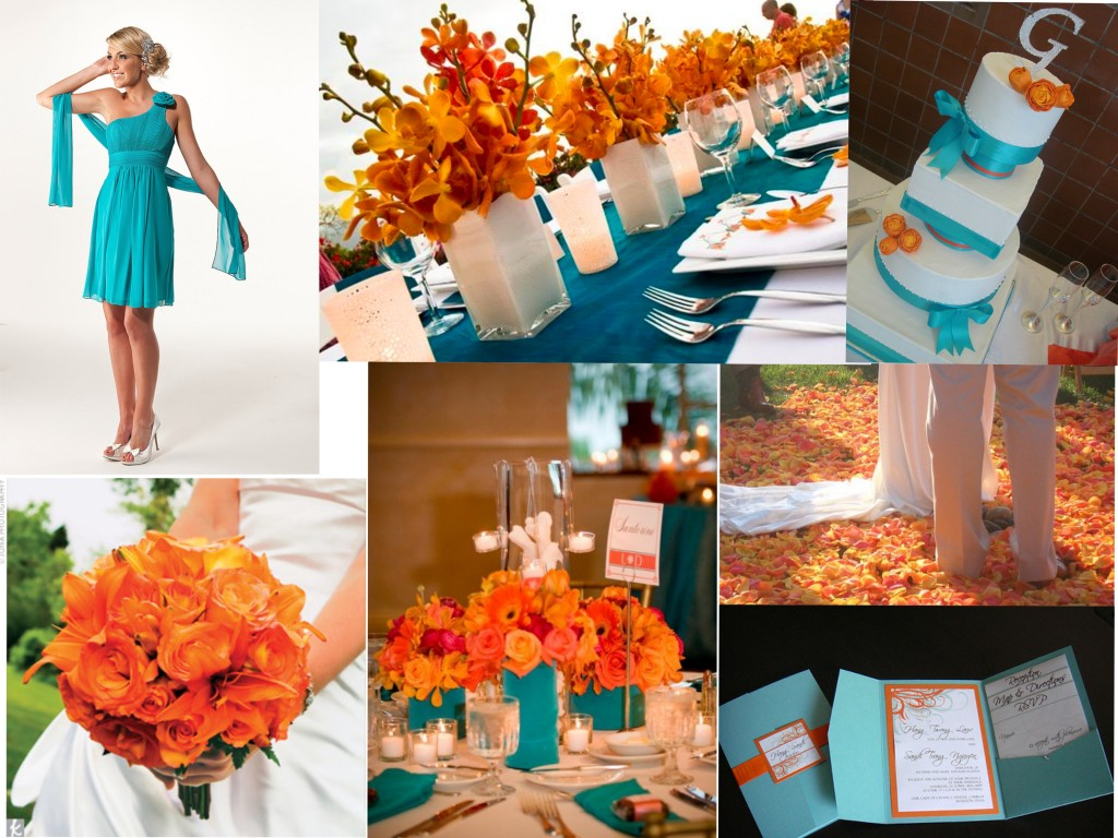 Designs by shay the blog january 2012 - Orange and teal decor ...