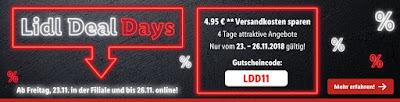 Lidl Deal Day ab 23.11 in der Filiale und bis 26.11 online
