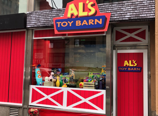 Al's Toy Barn Pixar pop up shop in New York City