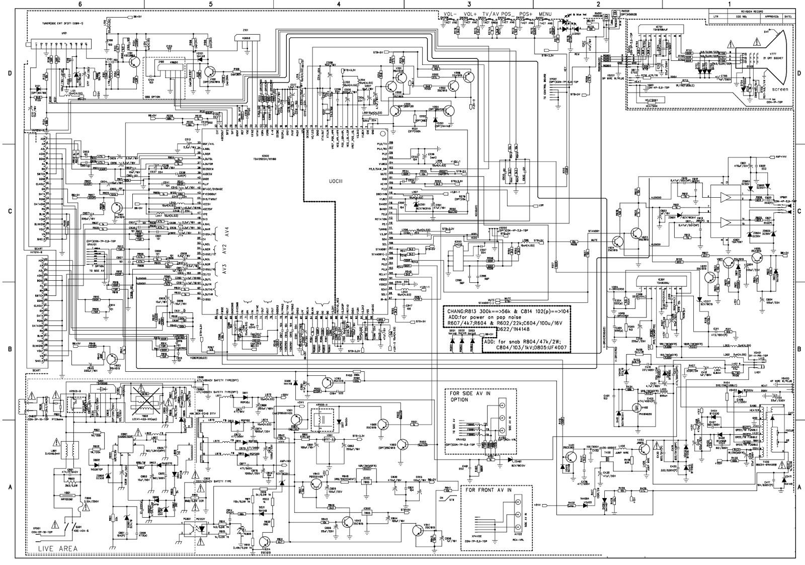 onida 29 tv circuit diagram