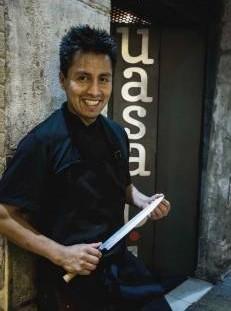 Abel Mora del restaurante Uasabi de Zaragoza
