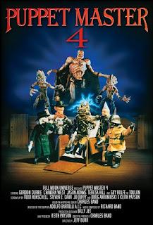 affiche de PUPPET MASTER 4 réalisé par Jeff Burr avec Gordon Currie et Chandra West