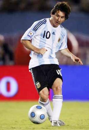 Foto de Lionel Messi en el estadio