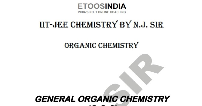 GENERAL ORGANIC CHEMISTRY BY ETOOS INDIA