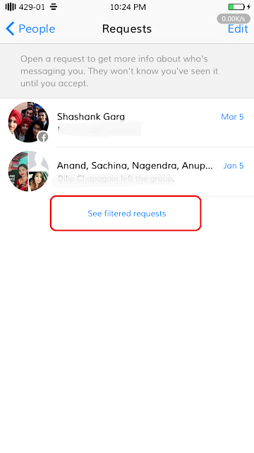 how to find Facebook hidden message from iPhone, iPad and iPod Touch.