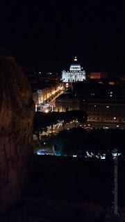 castel sant angelo guia brasilelira roma - Castel Sant'Angelo de noite