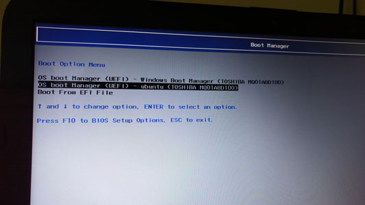 Bootmanager hp