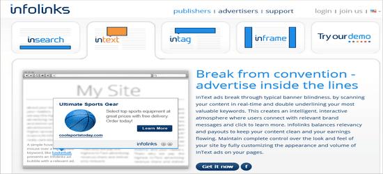 Infolinks ad networks