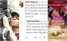 EFCC warns movie director, Kemi Adetiba with her recent movie Work the wedding party