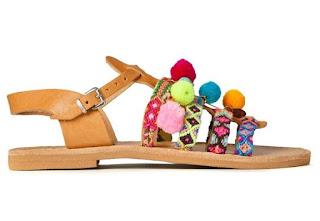 Handmade Pom Pom Sandals by Elina Linardaki for Muzungu Sisters