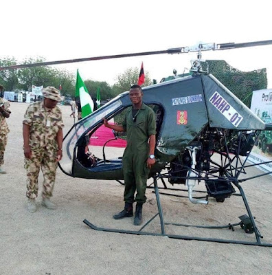 Young Nigerian Constructs Helicopter For The Army
