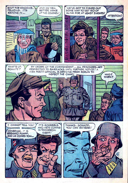 Hogan's Heroes v1 #2 - Steve Ditko dell tv 1960s silver age comic book page art