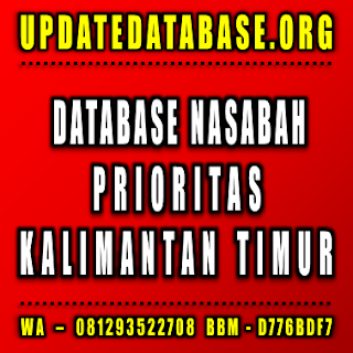 Jual Database Nasabah Kalimantan Timur