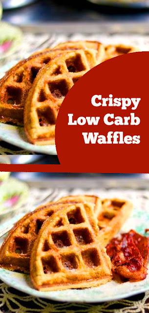 Crispy Keto Low Carb Waffles | recipes waffles | recipes keto | recipes low carb | recipes breakfast | breakfast recipes healthy #crispy #keto #Lowcarb #waffles #breakfast #healthybreakfast