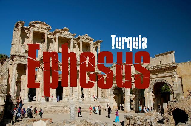 Visitar Ephesus, Turquia