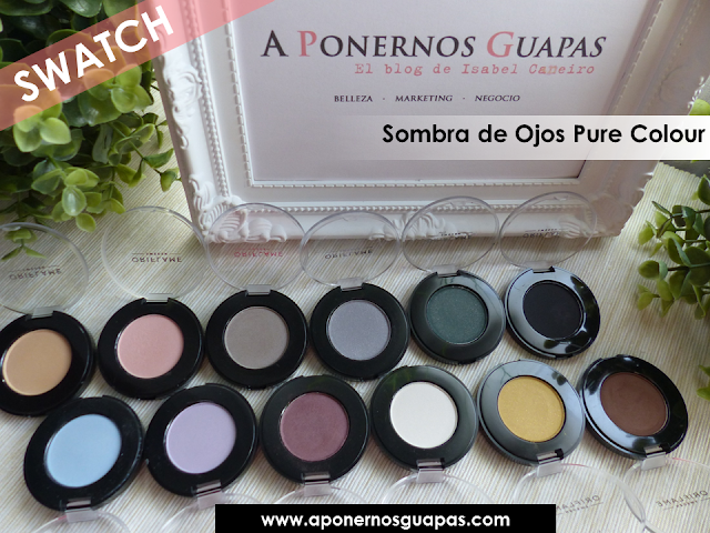 Swatch sombra de ojos Pure Colour Oriflame