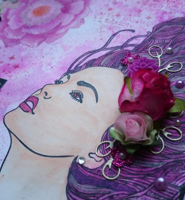 Art journal octobre rose détail