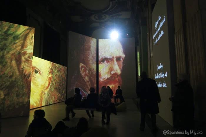Van Gogh Alive Madrid マドリードの光と音のバーチャルゴッホ展の会場