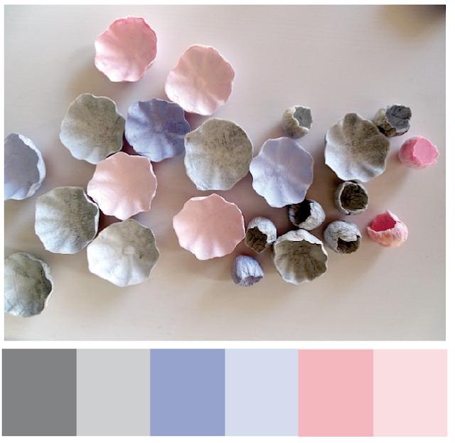 matrimonio  2018 con i fiori di carta: grigio e rosa e celeste di Alessandra Fabre Repetto Roma