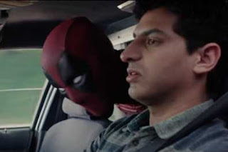 Deadpool and Cab Driver Karan Soni from the film