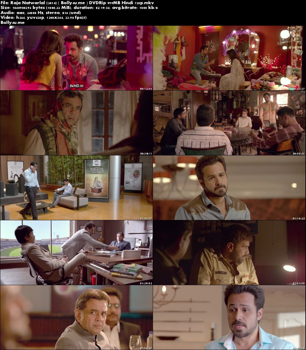 Raja Natwarlal 2014 DVDRip 999MB Hindi 720p Download