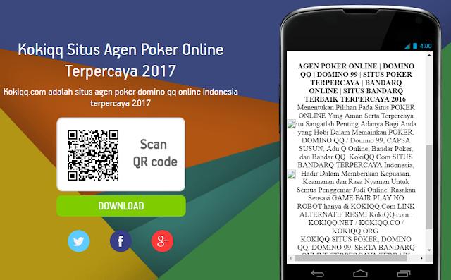 Cara Download Kokiqq Situs Agen Poker Online Terpercaya 2017 di Android Kamu