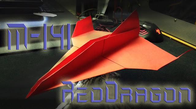 Avión de papel M-141  RedDragon