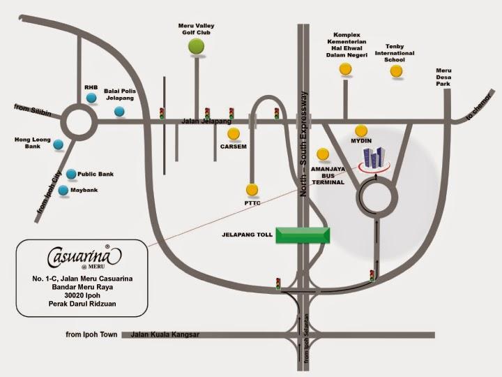 peta / map / Lokasi Hotel Casuarina @ Meru
