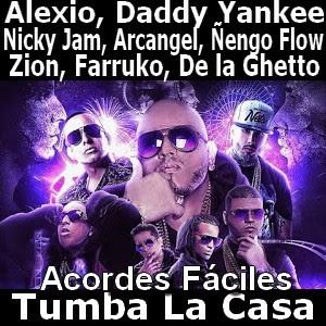 acordes faciles Ñengo Flow, Zion, Farruko, De la Ghetto