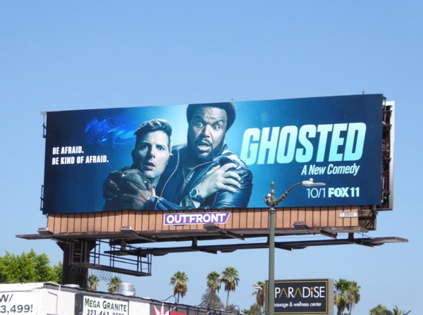 Ghosted series launch billboard