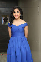 Actress Ritu Varma Pos in Blue Short Dress at Keshava Telugu Movie Audio Launch .COM 0058.jpg