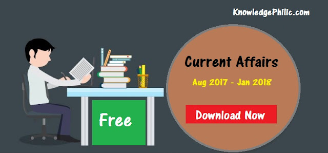 Current Affairs Half Yearly Handwritten Notes August 2017 to January 2018 PDF Download