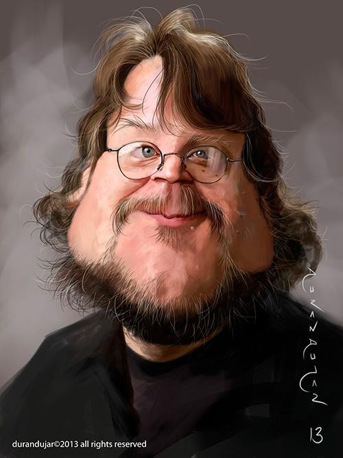 """Caricature of """"Guillermo Del Toro"""" by Antonio Durán Andújar"""