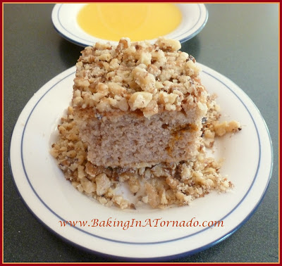 Fried Walnut Crusted Spice Cake with Caramel Sauce | www.BakingInATornado.com | #recipe #dessert