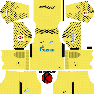 Zenit St Petersburg Kits 2017/18 - Dream League Soccer