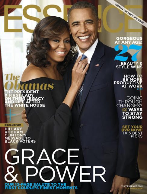 President Barack & Michelle Obama cover Essence Magazine Oct. 16 Issue