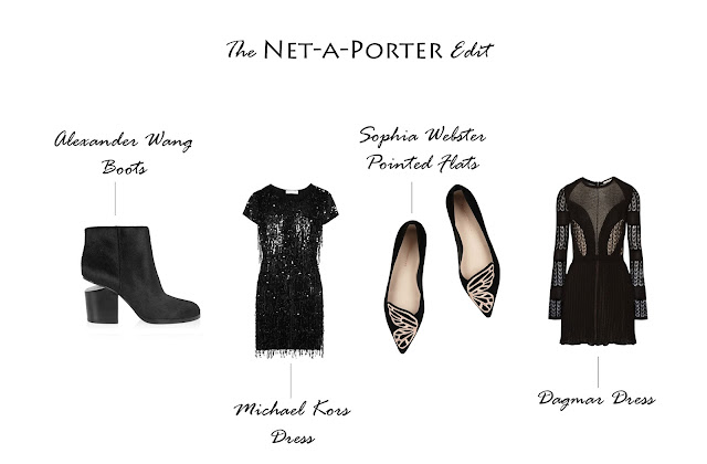 Net-a-Porter Edit Sophia Webster, Michael Kors, Dagmar and Alexander Wang.
