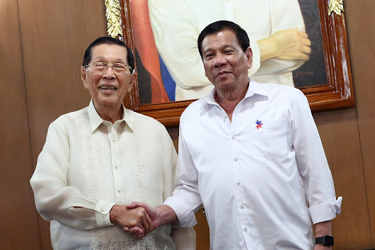 Enrile not to oppose Duterte's declaration of Martial Law