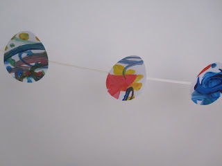 Finished bunting hanging