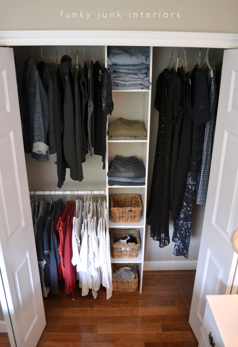 How to build an easy clothes closet from a 50 kit funky - How to organize clothes without a closet ...