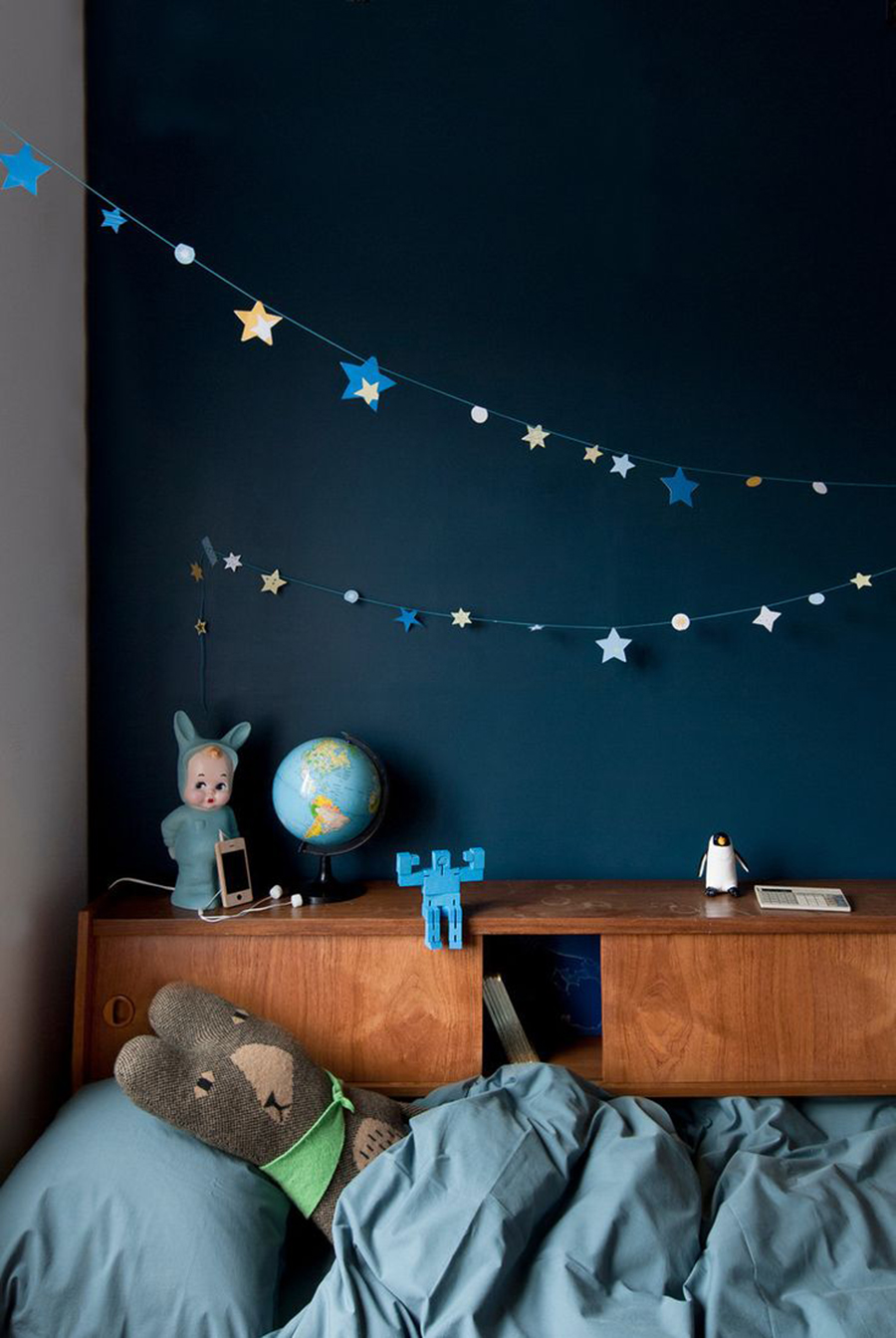 Peinture Chambre Bleu Nuit | Bon 44 Graphique Chambre Bleu Canard Et ...