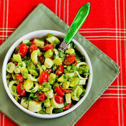 Heart of Palm Salad with Tomato, Avocado, and Lime