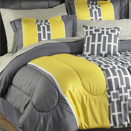 Reader Question Gray Amp Yellow Bedding Cohesive Randomness