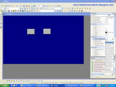 Hướng dẫn sử dụng lập trình chèn hình ảnh cho nút nhấn trên màn hình cảm ứng HMI Delta B07S411