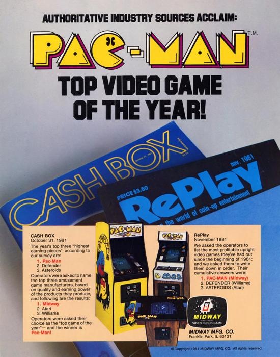 Pac-Man advertising (Midway) 1981