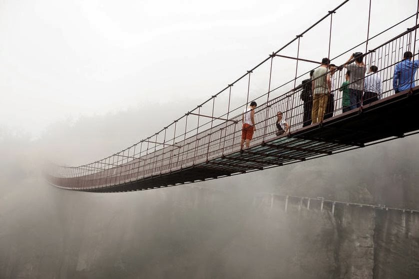 Glass Bottom Bridge in China
