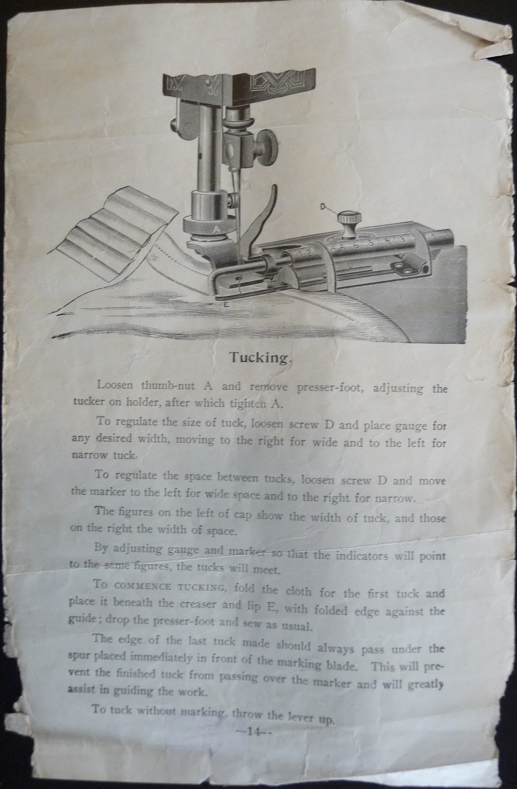 Running Stitches A Verrryyy Old Sewing Machine Manual