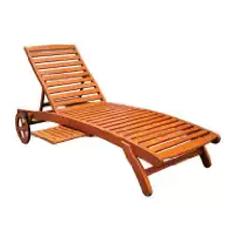 5-Postion Balau Wood Patio Chaise Lounge